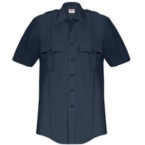Elbeco Paragon Plus Men's Short Sleeve Shirt Large Polyester Cotton Midnight Navy