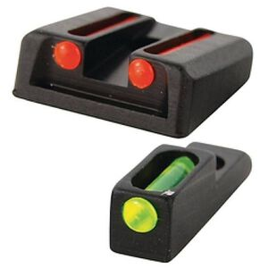 Williams Fire Sight Set S&W SD9/40VE Fiber Optic Sights Non-Adjustable Fixed Sights Red/Green Aluminum Matte Black 70994