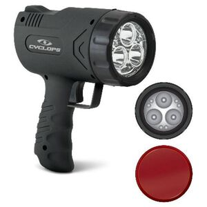 Cyclops Sirius 500 LED Spotlight 500 Lumens 6 Volt SLA Battery Trigger Switch Polymer Body Black CYC-X500H