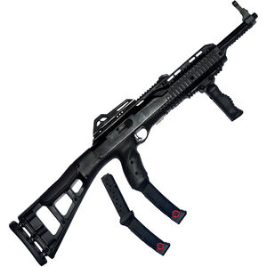 "Hi-Point Carbine Semi Auto Rifle, 9mm, 16.5"" Barrel, 20 Rounds, Forward Grip, Skeletonized Stock, Black"