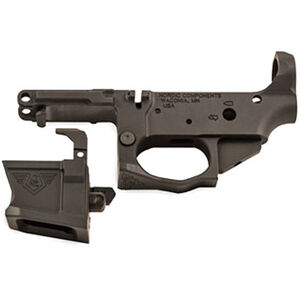 Nordic Components NCPCC 9mm Luger AR-15 Stripped Lower Receiver Uses S&W M&P Magazines Billet Aluminum Black