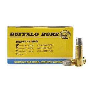 Buffalo Bore Heavy .41 Remington Magnum Ammunition 20 Rounds Hard Cast LWN 265 Grain 16A/20