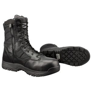"Original S.W.A.T. Metro Safety Boots 9"" Waterproof Side Zip Leather/Nylon Rubber Size 9 Regular Black 129101-09.0/EU42"