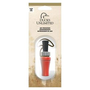 SPG, Ducks Unlimited Logo Air Freshener, Duck Call Shape, Vanilla, Black/Orange