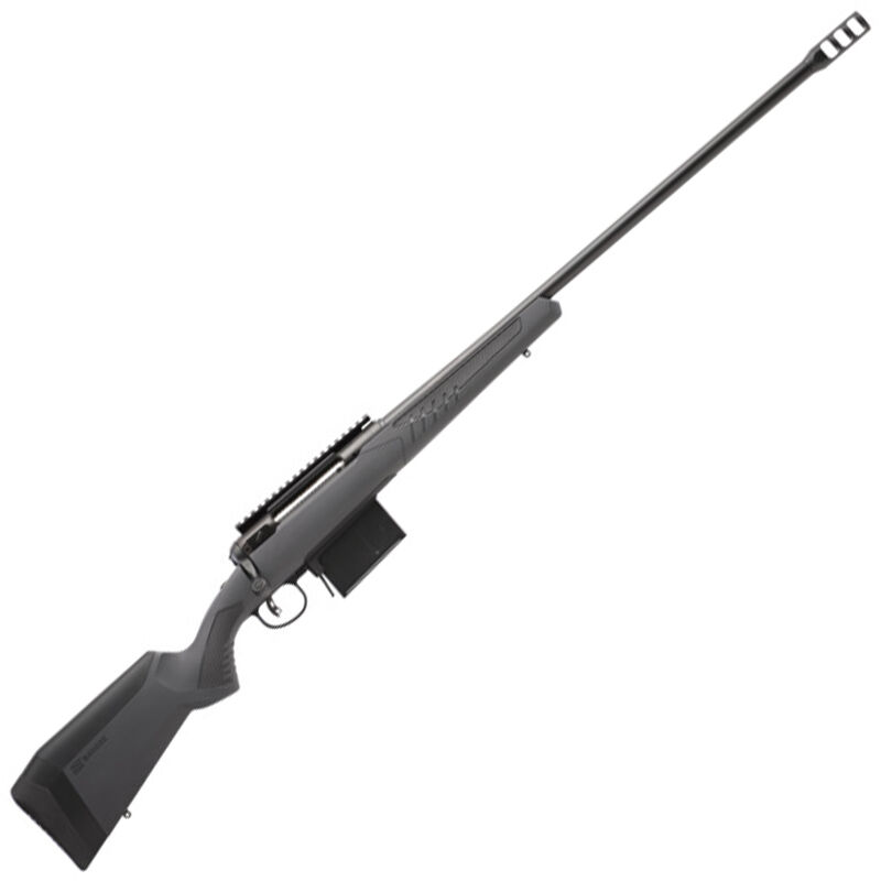 "Savage 110 Long Range Hunter Bolt Action Rifle .338 Lapua Magnum 26"" Heavy Barrel 5 Rounds DBM Synthetic AccuStock AccuFit System Matte Black/Matte Gray Finish"