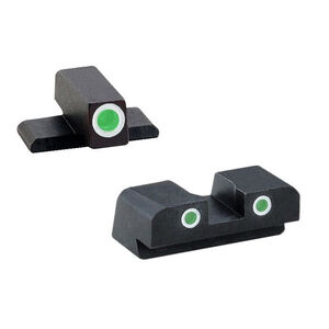 AmeriGlo Springfield XD/XDM/XDS 3-Dot Night Sights Green Front/Rear Black