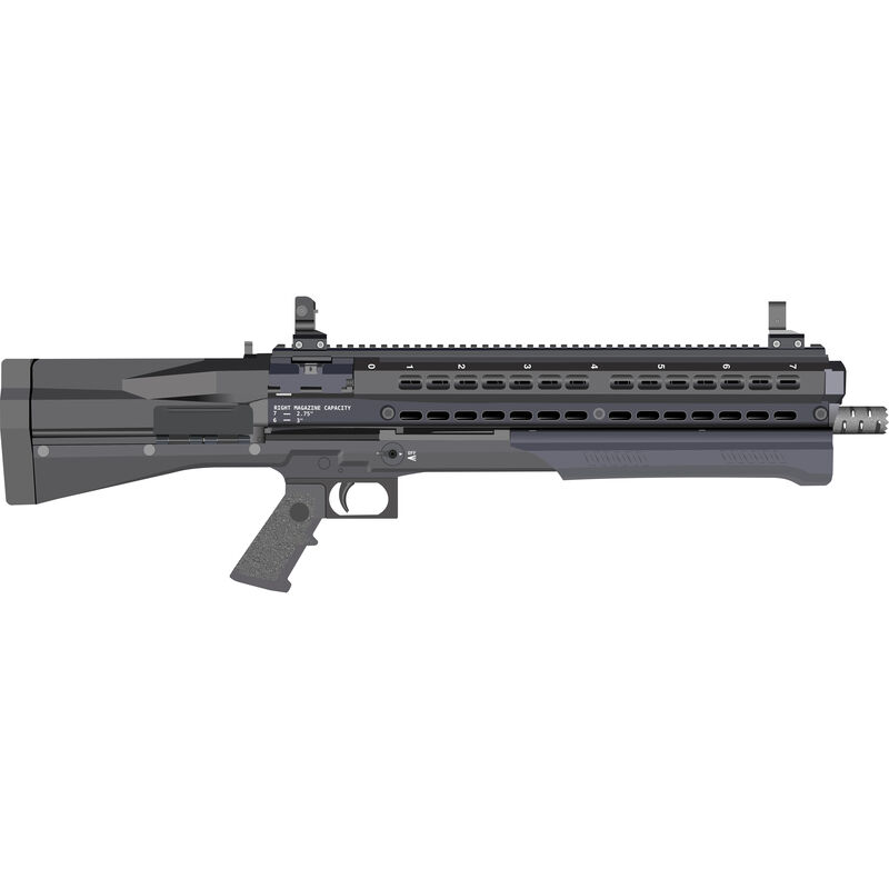 "UTAS UTS-15 Pump-Action Shotgun 12 Gauge 18.5"" Barrel 15 Round Fixed Stock Matte Black Finish UTS15"
