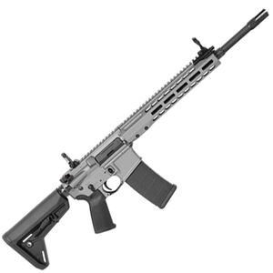 "Barrett REC7 AR-15 Semi Auto Rifle 5.56 NATO 16"" Barrel 30 Round Magazine Gas Piston System Enhanced M-LOK Hand Guard 6-Position Stock Cerakote Tungsten Grey Finish"