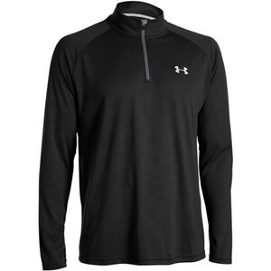 Under Armour Tech 1/4 Zip Long Sleeve Shirt Size XL Black/White