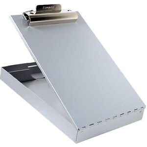 Saunders Redi-Rite Desktop Storage Clipboard with Pen Divider Legal Sized Aluminum