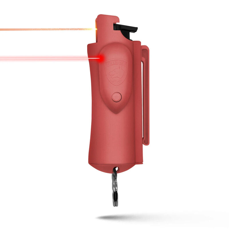 Guard Dog Accufire Pepper Spray w/Laser Sight & Keychain Pink