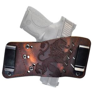 VersaCarry Underground Plus Rapid Slide S3 Coat of Arms Multi-Fit Ambidextrous IWB/OWB Tuckable Holster Leather Distressed Brown