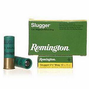 "Remington Arms, 12 Gauge Slugger Magnum Ammunition 5 Shells, 1 Ounce, Rifled Slug, 2 3/4"""