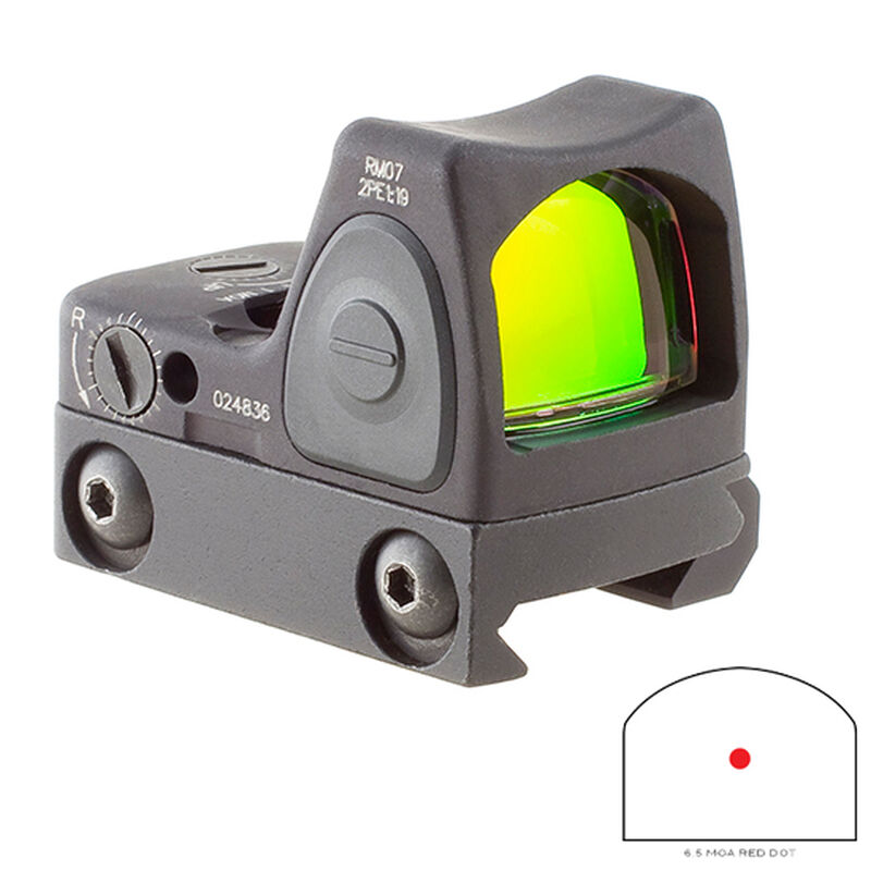 Trijicon RMR Type 2 Adjustable LED Sight 6.5 MOA Red Dot with RM33 Picatinny Rail Mount