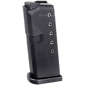 ProMag For GLOCK 42 .380 ACP Magazine Six Rounds Black Polymer GLK-10
