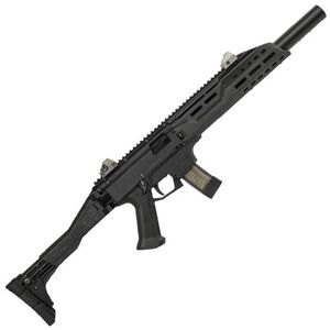 "CZ Scorpion EVO 3 S1 Carbine Semi Auto Rifle 9mm Luger 16.2"" Barrel 10 Rounds Collapsible/Folding Stock Faux Suppressor Polymer Frame Matte Black Finish"
