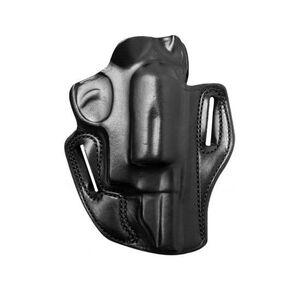 """DeSantis Speed Scabbard Colt Detective Special/Ruger SP101 2"""" Barrel Revolver Belt Holster Right Hand Draw Leather Black 002BA22Z0"""