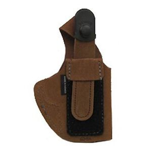 Bianchi #6D Compact Autos ATB Waistband Holster Left Hand Size 11 Natural Suede Rust 19043