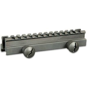 "UTG AR-15 Medium Profile Full Length Riser Picatinny Mount 5.7"" Aluminum Black MNT-RS08L"