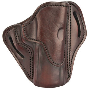 1791 Gunleather Open Top Multi-Fit 2.4 OWB Belt Holster for Full Size Large Frame Semi Auto Models Right Hand Draw Leather Signature Brown