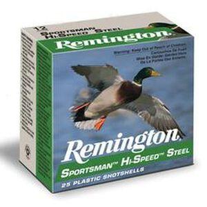 """Remington 12 Gauge 3"""" #4 Steel 1.125 oz 25 Round Box"""