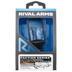 Rival Arms Faction Series Two Piece Magwell for GLOCK 17/22/34/35 Gen 4 Models Aluminum Anodized Battle Bronze/Black Finish