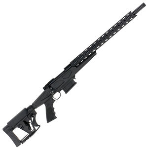 "Howa Australian Precision Chassis Bolt Action Rifle 6.5 Creedmoor 24"" Heavy Barrel Threaded 10 Round DBM Luth-AR MBA-4 Adjustable Stock Matte Black"