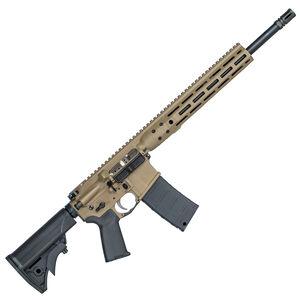 "LWRC IC DI AR-15 .300 AAC Blackout Semi Auto Rifle 16.1"" Barrel 30 Rounds M-LOK Free Float Rail System Collapsible Stock Flat Dark Earth Finish"