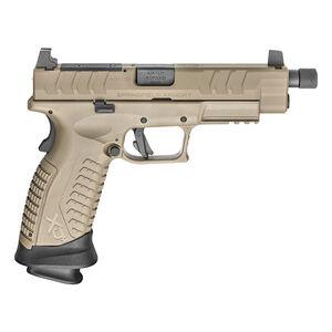 "Springfield Armory XD-M Elite Tactical OSP 9mm Luger Semi Auto Pistol 4.5"" 22 Round Optics Ready Desert FDE"