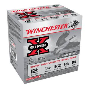 "Winchester Super-X 12 Ga 3.5"" BB Steel 1.25oz 250 Rounds"