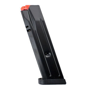 CZ USA CZ P-10 F Full Size 15 Round Magazine 9mm Luger Reversible Magazine Release Compatible Matte Black Finish