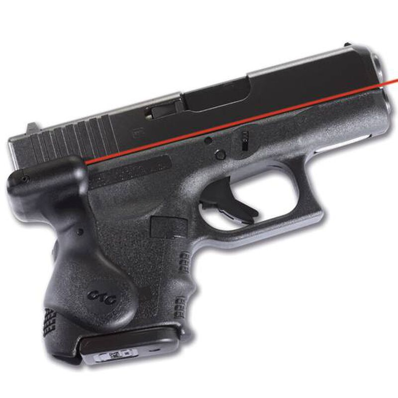 Crimson Trace Lasergrip For GLOCK GEN3 26, 27, 28, 33, 39 Rubber Black LG-626