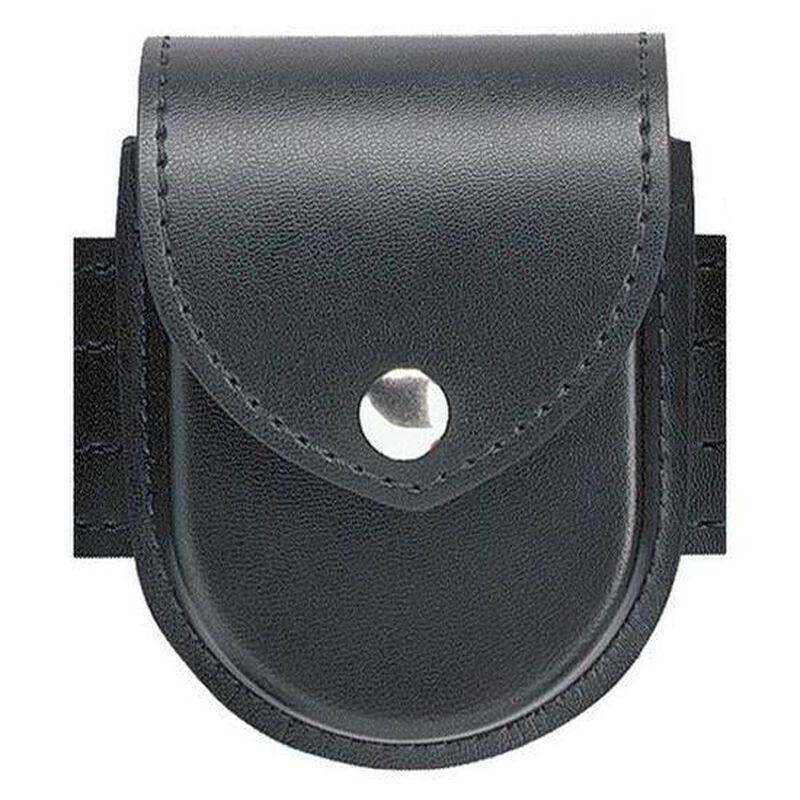 Safariland Model 290 Handcuff Case Chain Chrome Snap Plain Black