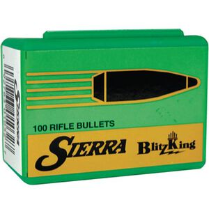 "Sierra .22 Caliber .224"" Diameter 55 Grain BlitzKing Polymer Tip Boat Tail Bullets 100 Count 1455"