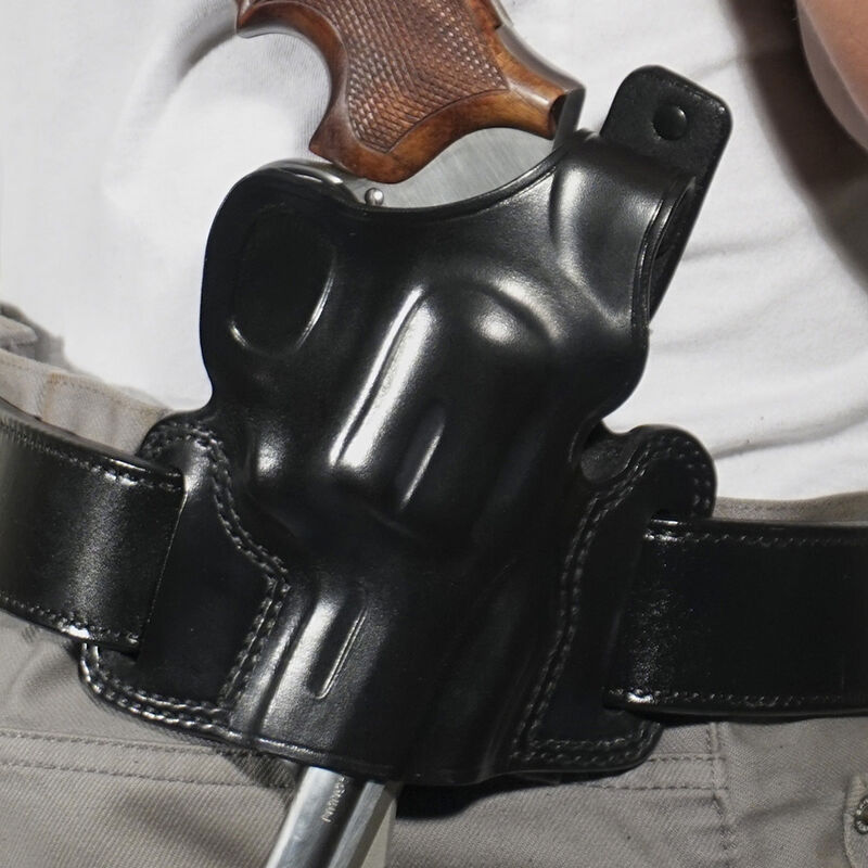 """Galco Silhouette High Ride S&W K Frame 2"""" Belt Holster Right Hand Leather Black SIL114B"""