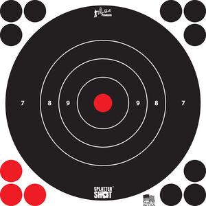 """Pro-Shot Splatter Shot 8"""" White Bull's-eye Six Pack"""