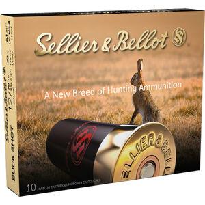 """Sellier & Bellot Buck Shot 12 Gauge Ammunition 10 Rounds 2-3/4"""" 4 Buck 1-1/8oz 1214 fps"""
