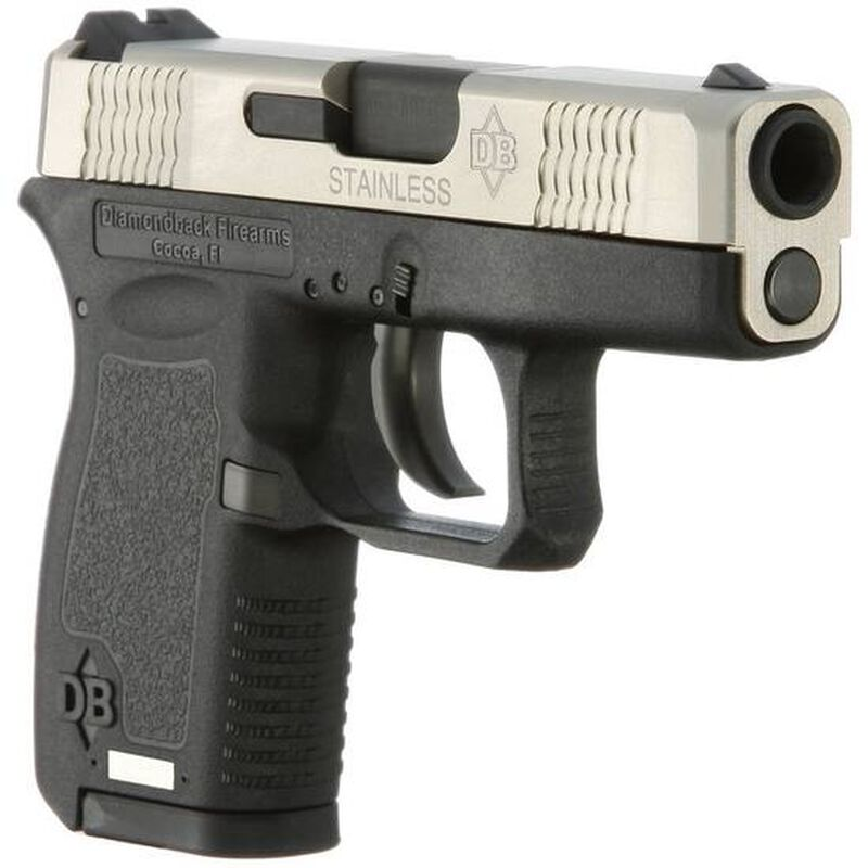 "Diamondback DB380 .380 ACP Semi Automatic Pistol 6 Rounds 2.80"" Barrel Two Tone Black Polymer Frame Stainless Steel Finish"