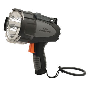 Cyclops Revo 6000 Cree LED Black Gray Rechargeable Lithium Spot Light 6000 Lumens. Red Lens Included.