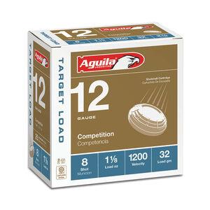 "Aguila Target Heavy Load 12 Gauge Shotshells 25 Rounds 2 3/4"" 1 1/8 oz #8 1CHB1358"