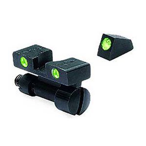 Meprolight S&W Tru-Dot Night Sight K, L and N Frame Revolvers Adjustable Set Green Front and Rear Sights 22771