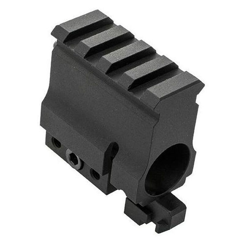CMMG Clamp On Railed Gas Block .750 Non-Functional For .22 LR/9mm Aluminum Black 55DA399