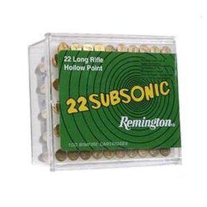 Remington 22 Subsonic .22LR Ammunition 38 Grain Lead HP Bullet 1050 fps