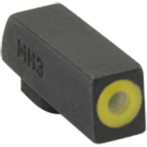 Meprolight Hyper-Bright Tritium Front Day and Night Sight Phosphorescent Yellow Ring for Glock 42/43/43x/48