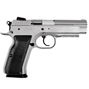 "EAA Witness Semi Auto Handgun 40 S&W 4.5"" Barrel 15 Rounds Steel Frame Black Rubber Grips Wonder Finish 999102"
