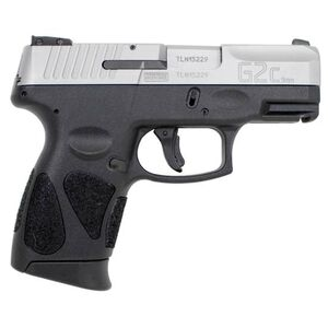 "Taurus G2C Compact Semi Auto Pistol 9mm Luger 3.2"" Barrel 12 Rounds Double Action Only 3 Dot Sights Matte Stainless Steel Slide/Black Polymer Frame"
