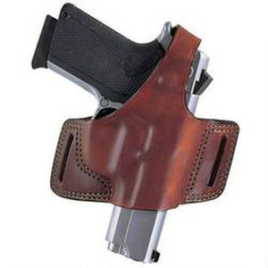 Bianchi Black Widow Belt Slide Holster Fits Ruger P89/P95 Right Hand Leather Tan