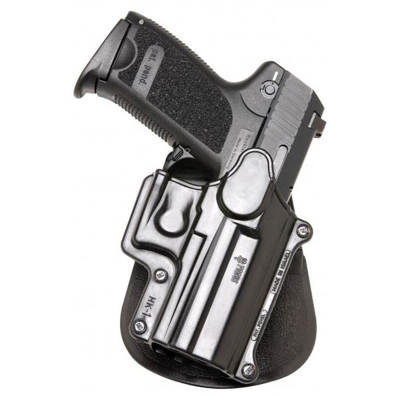 Fobus Standard Series Hi-Point  380/Bersa BPCC Paddle Holster Right Hand  Draw Passive Retention Injection Molded Polymer Matte Black