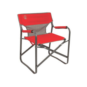 Coleman Outpost Breeze Folding Deck Chair Red