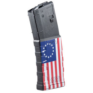 Mission First Tactical Extreme Duty AR-15 Magazine .223 Rem/5.56 NATO 30 Rounds Polymer Black with Betsy Ross Flag